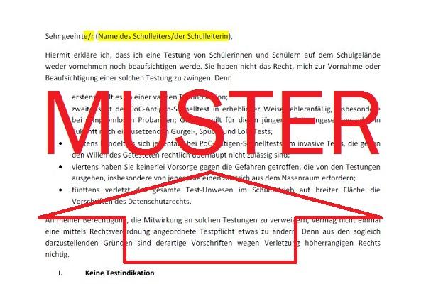 Musterbrief Berliner Schulen